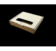 Коробка из микрогорокартона крафт 175х165х30 мм