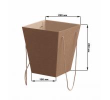 Коробка для цветов 150х220х250 мм, крафт
