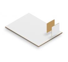 Микрогофрокартон Т22 «Е» Белый 1000х1000 мм